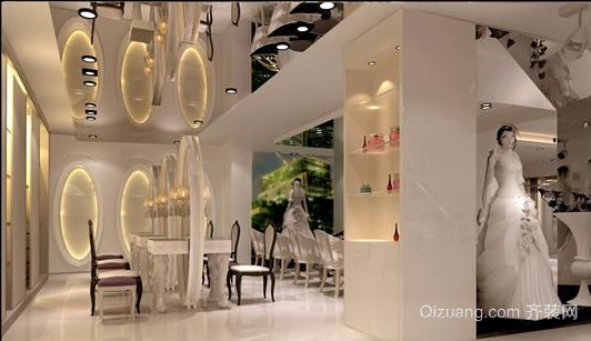 婚纱店现代简约装修效果图实景图