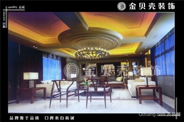 惠中企业中式风格装修效果图实景图