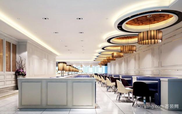 茶餐厅欧式风格装修效果图实景图