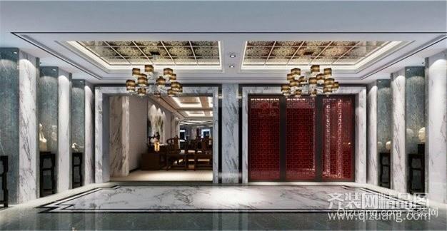 星级会所中式风格装修效果图实景图