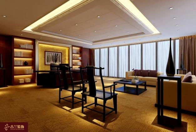 投资大厦中式风格装修效果图