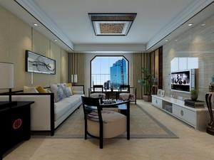 96平米1室1厅1卫现代简约家装装修图片设计 济南齐装网装修效果图
