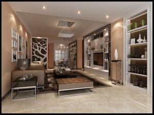 360平米1室1厅1卫现代简约家装装修图片设计 广州齐装网装修效果图