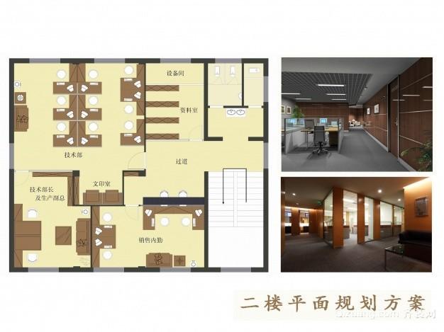 大青办公楼现代简约装修效果图实景图