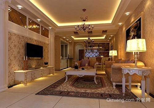 紫金豪庭欧式风格装修效果图实景图