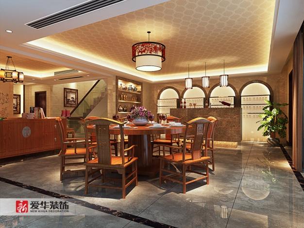 中航樾府350平米家装中式图片港务装修别墅设别墅风格绿地西安区图片