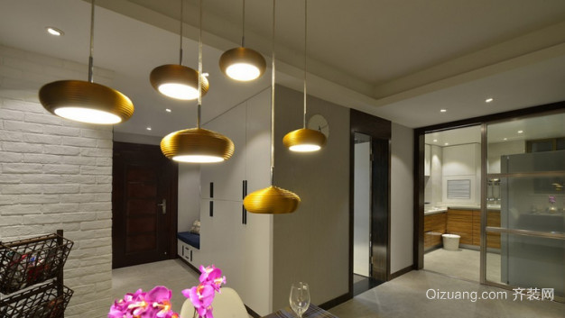 金海花园现代简约装修效果图实景图