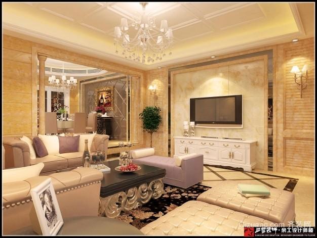 江南世家欧式风格装修效果图实景图