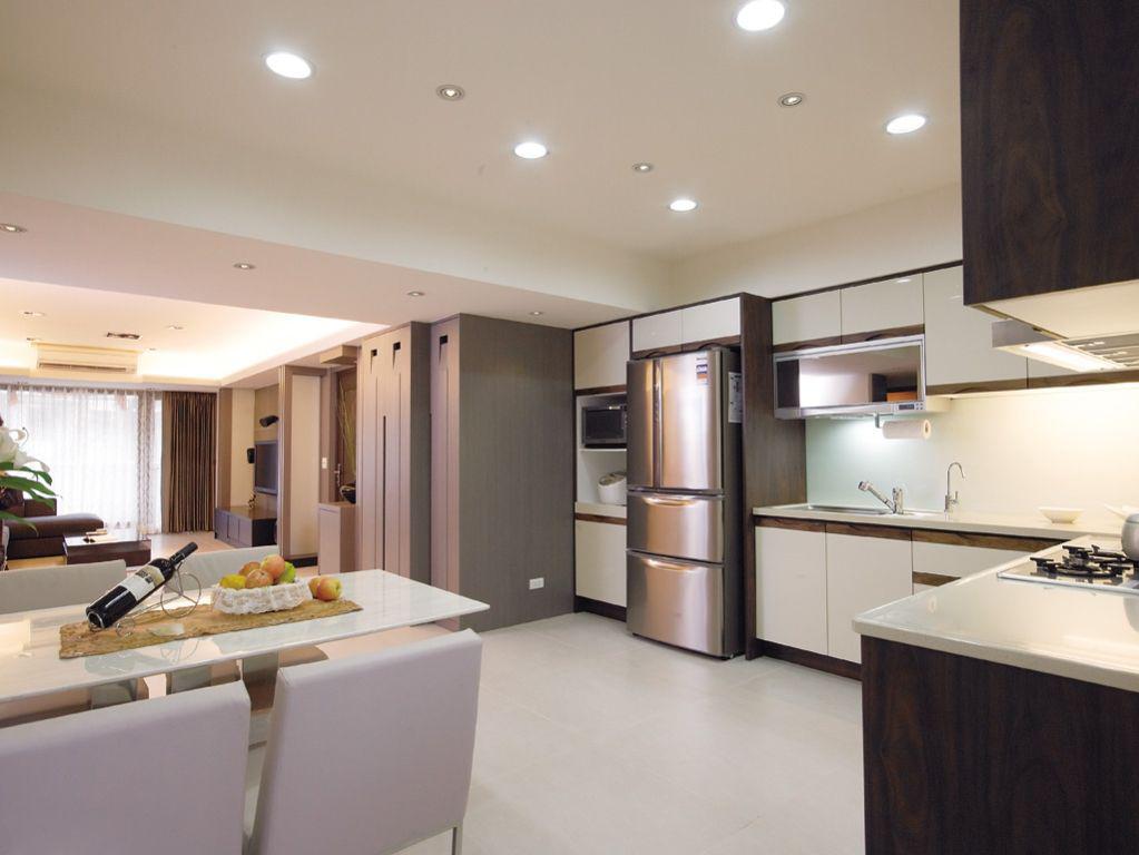 山湖 一号120平米普通户型现代简约家装装修图高清图片