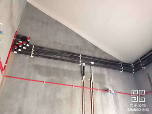 尖峰郦园  水电施工