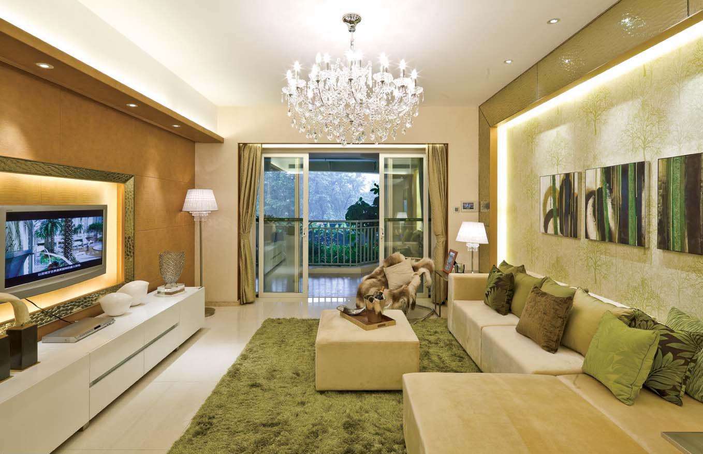 山湖一号98 平米普通户型现代简约家装装修图高清图片