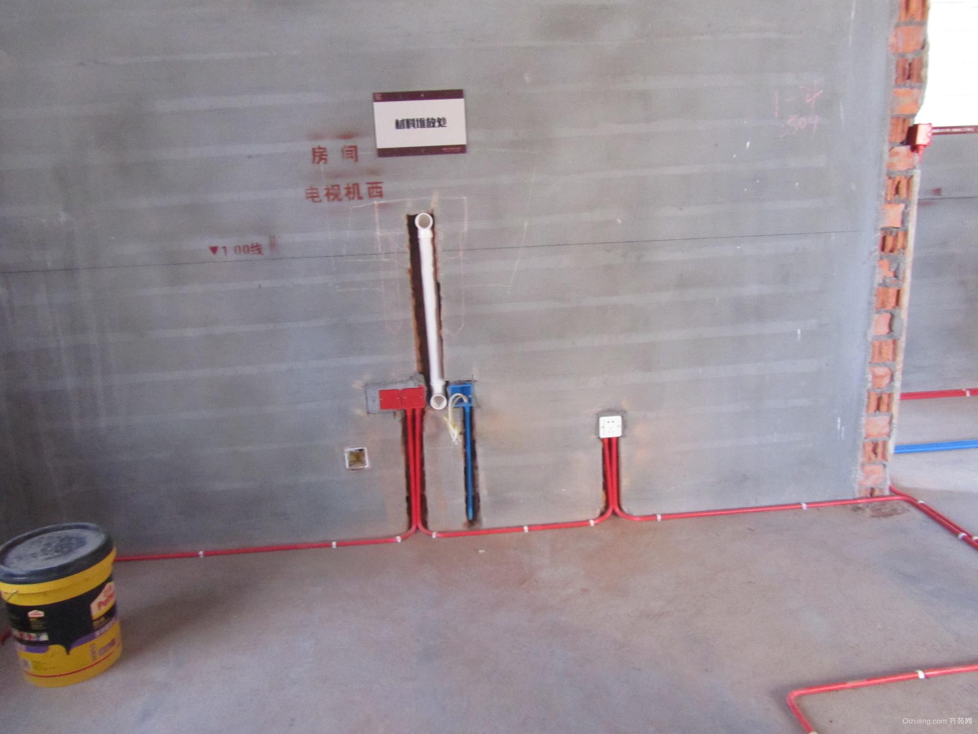 金色蓝庭  水电装修现代简约装修效果图实景图