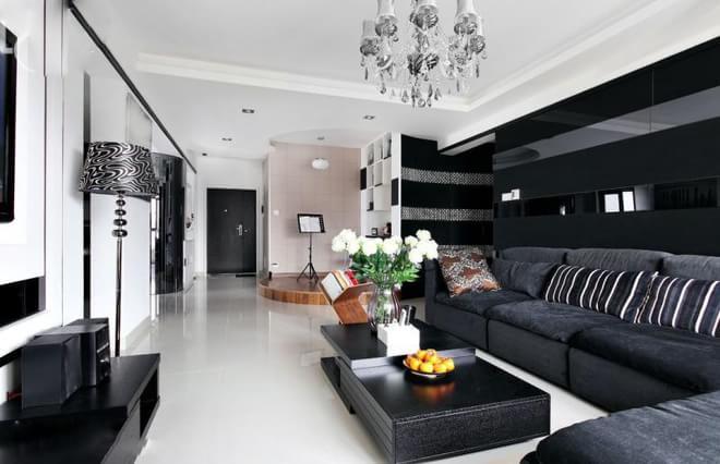100平米简约家装现代普通图片装修户型v家装-扬装修公司办公室室内设计平面图图片