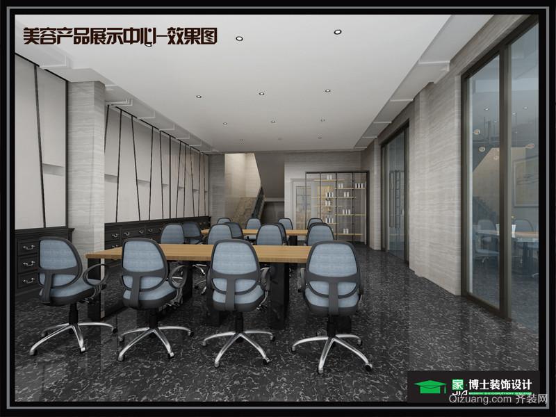 香港城美容产品展厅-刘总现代简约装修效果图实景图