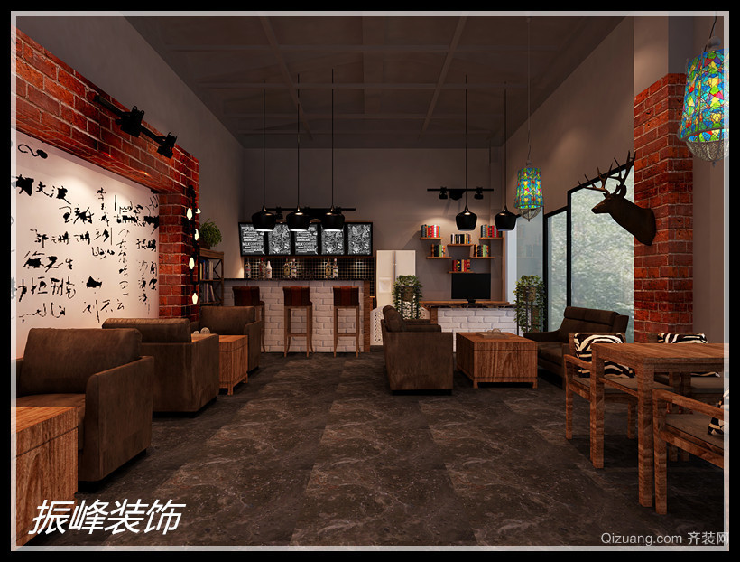 咖啡厅美式风格装修效果图实景图