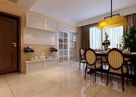 美式装修客厅-餐厅