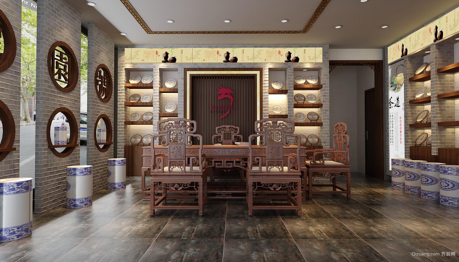茶博城中式风格装修效果图实景图