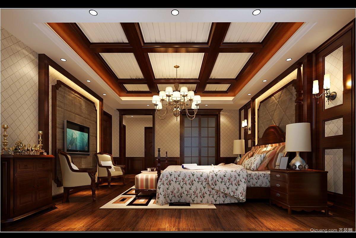 绿地别墅美式风格装修效果图实景图
