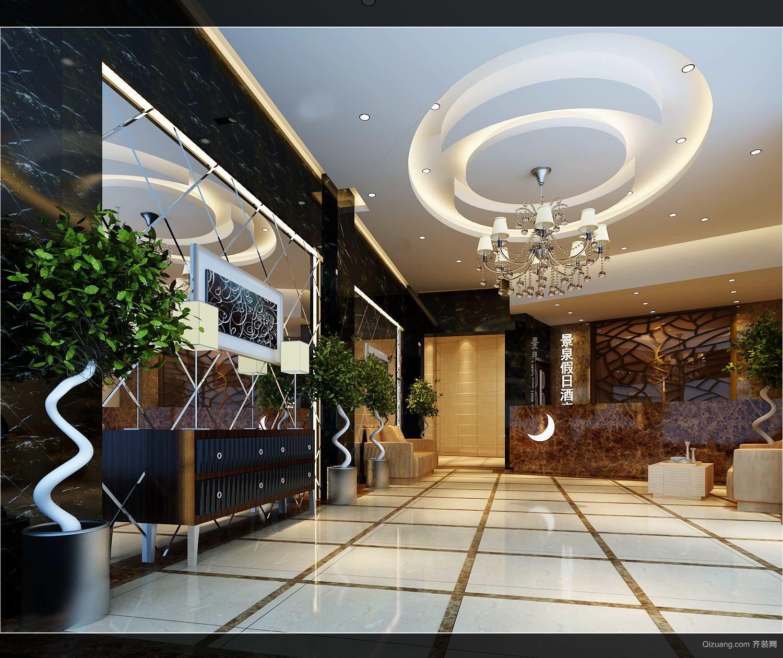 宜春温汤景泉假日酒店混搭风格装修效果图实景图