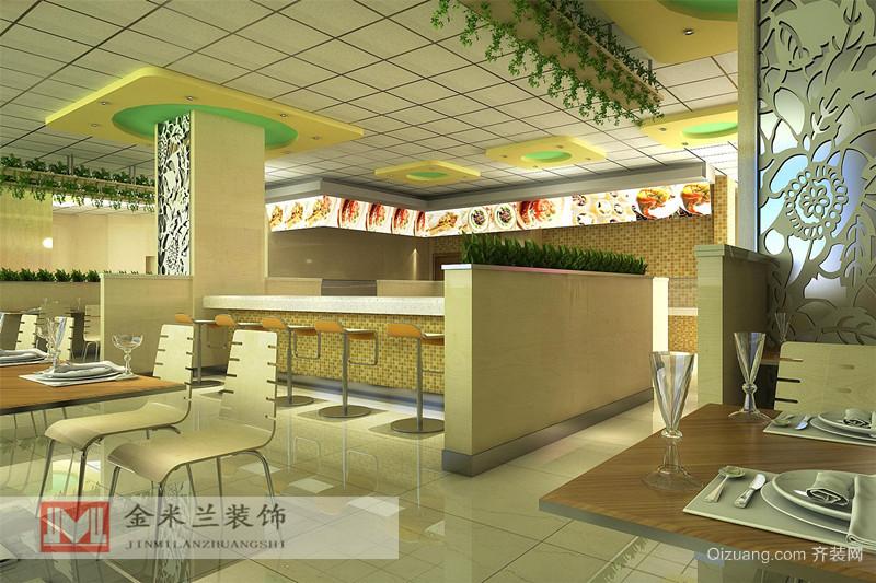 无锡 快餐 店 300 平米现代简约家装装修图片设计
