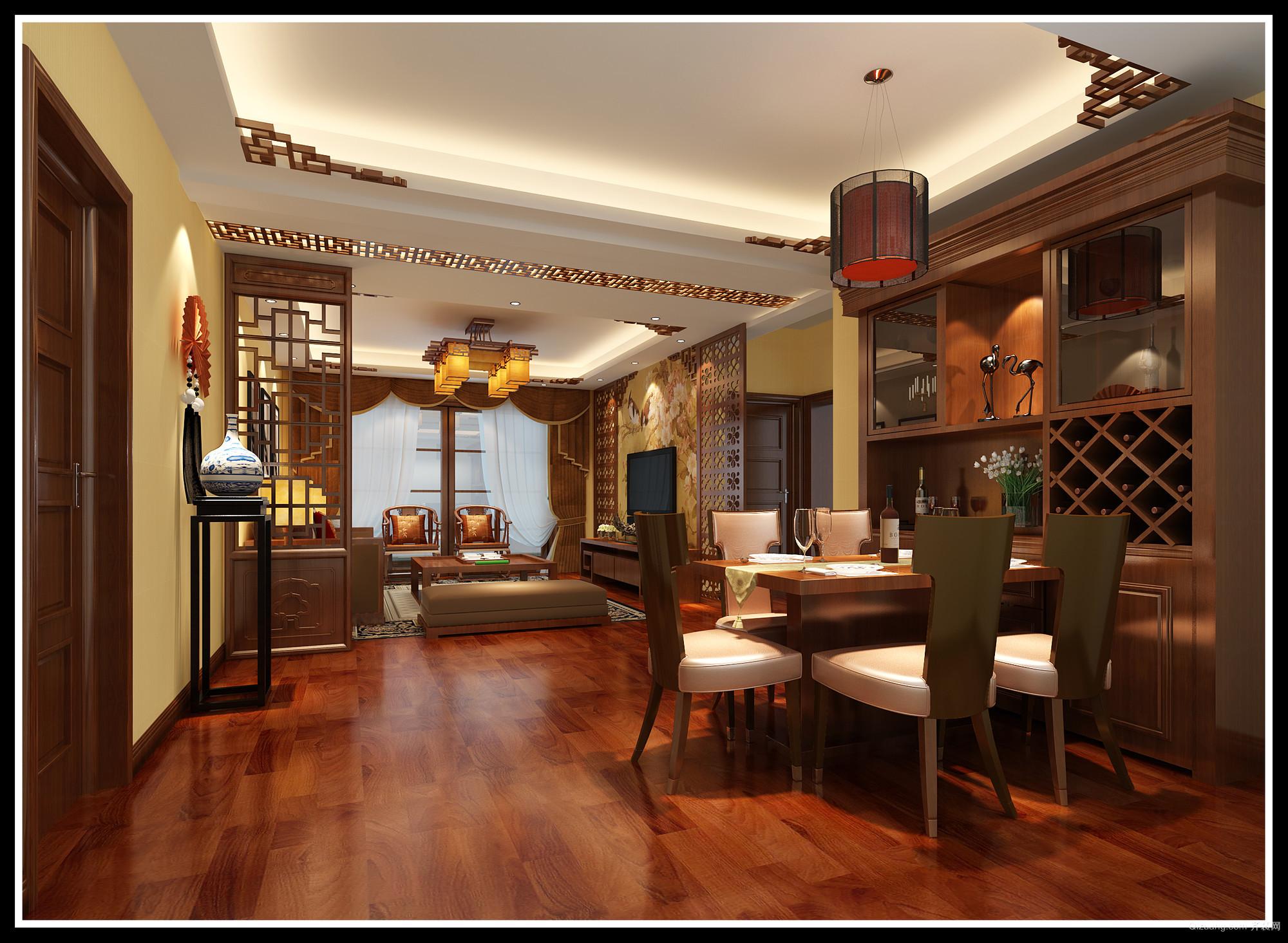万福新城中式风格装修效果图实景图