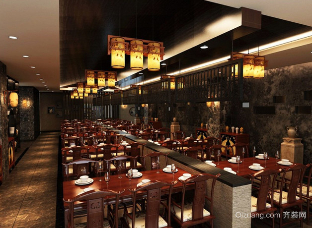 中式餐馆中式风格装修效果图实景图