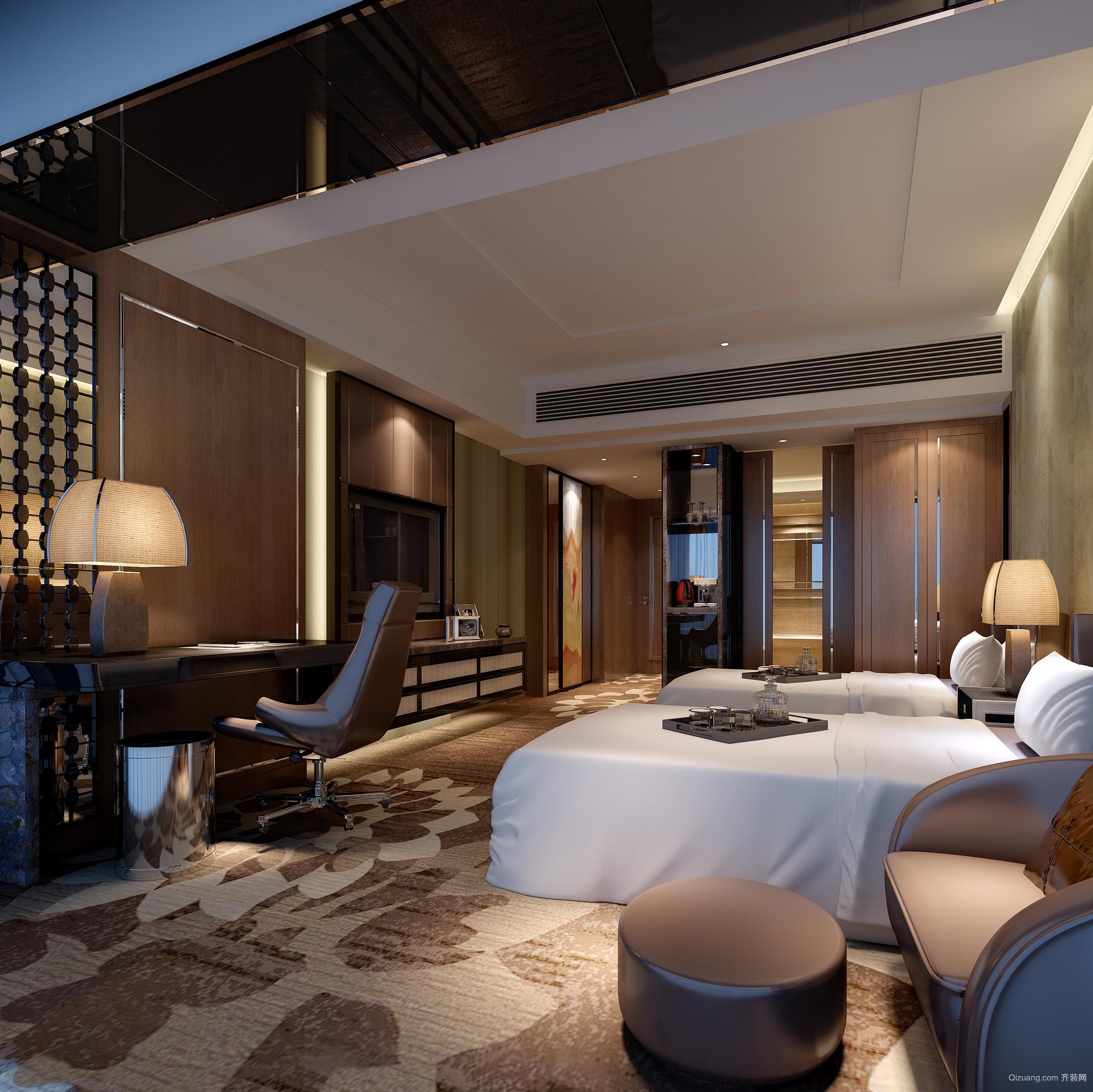 南苑酒店现代简约装修效果图实景图