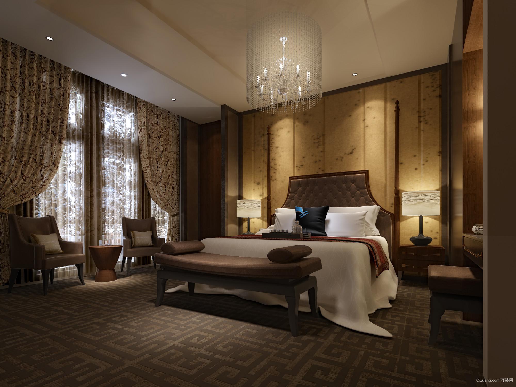 总统套房中式风格装修效果图实景图