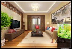 华冠名都二手房简中风格雅居案例中式风格装修案例