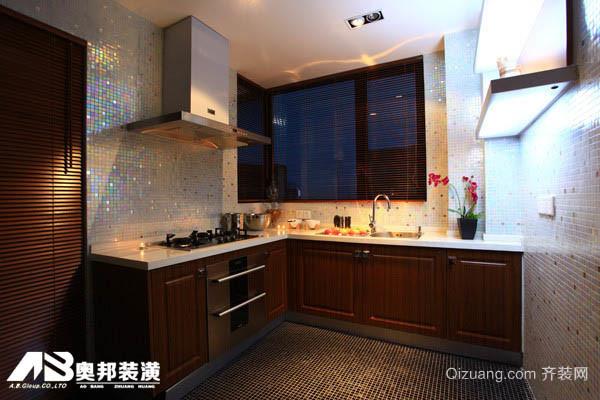 万达中央华城中式风格装修效果图实景图
