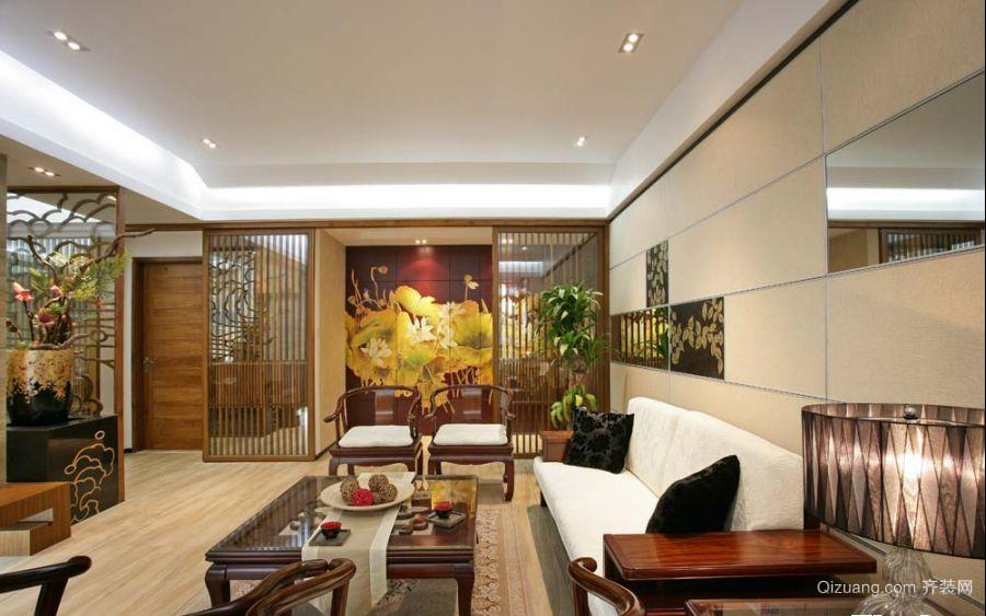 金柱康城中式风格装修效果图实景图