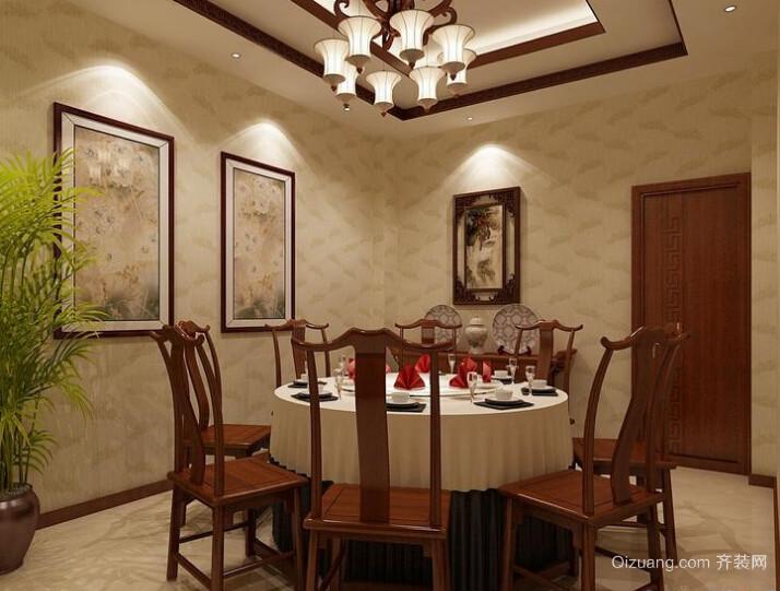 酒店餐厅包间装修效果图中式风格装修效果图实景图
