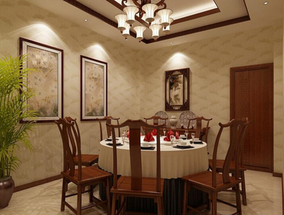 十堰酒店餐厅包间装修效果图装修设计案例