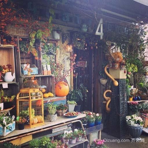 小型花店商铺装修效果图现代简约装修效果图实景图