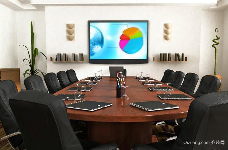 会议室设计效果图中式风格装修效果图实景图