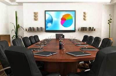 银川会议室设计效果图装修设计案例