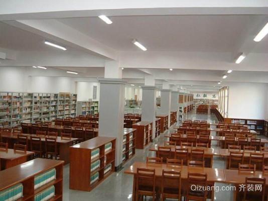 中学图书馆室内设计现代简约装修效果图实景图