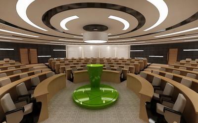 延边会议室装修设计案例