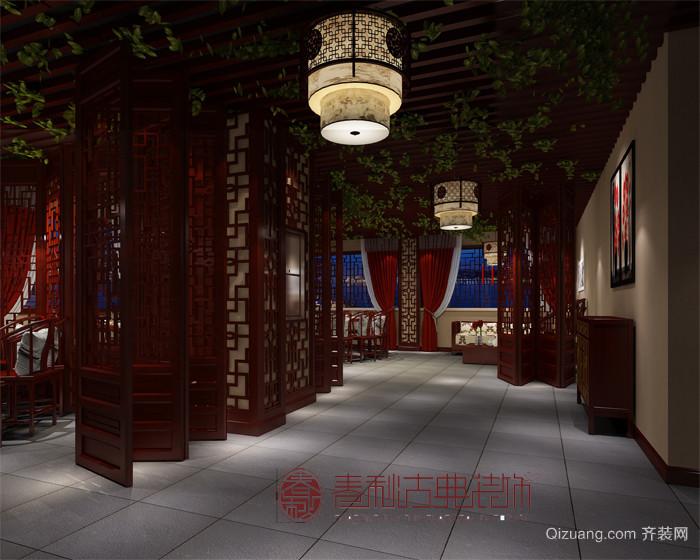 中式面馆中式风格装修效果图实景图