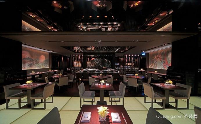 茶餐厅中式风格装修效果图实景图