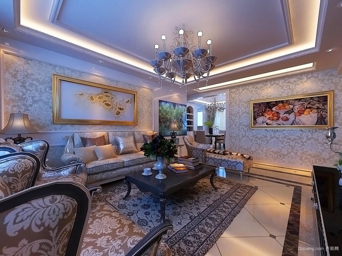 名士豪庭别墅欧式风格装修效果图实景图