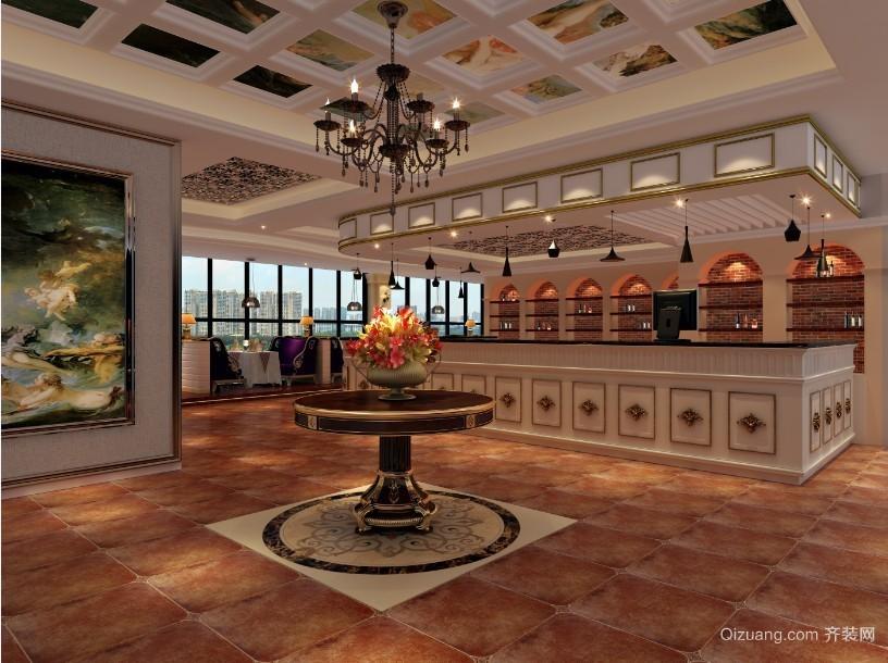 尚爵咖啡欧式风格装修效果图实景图