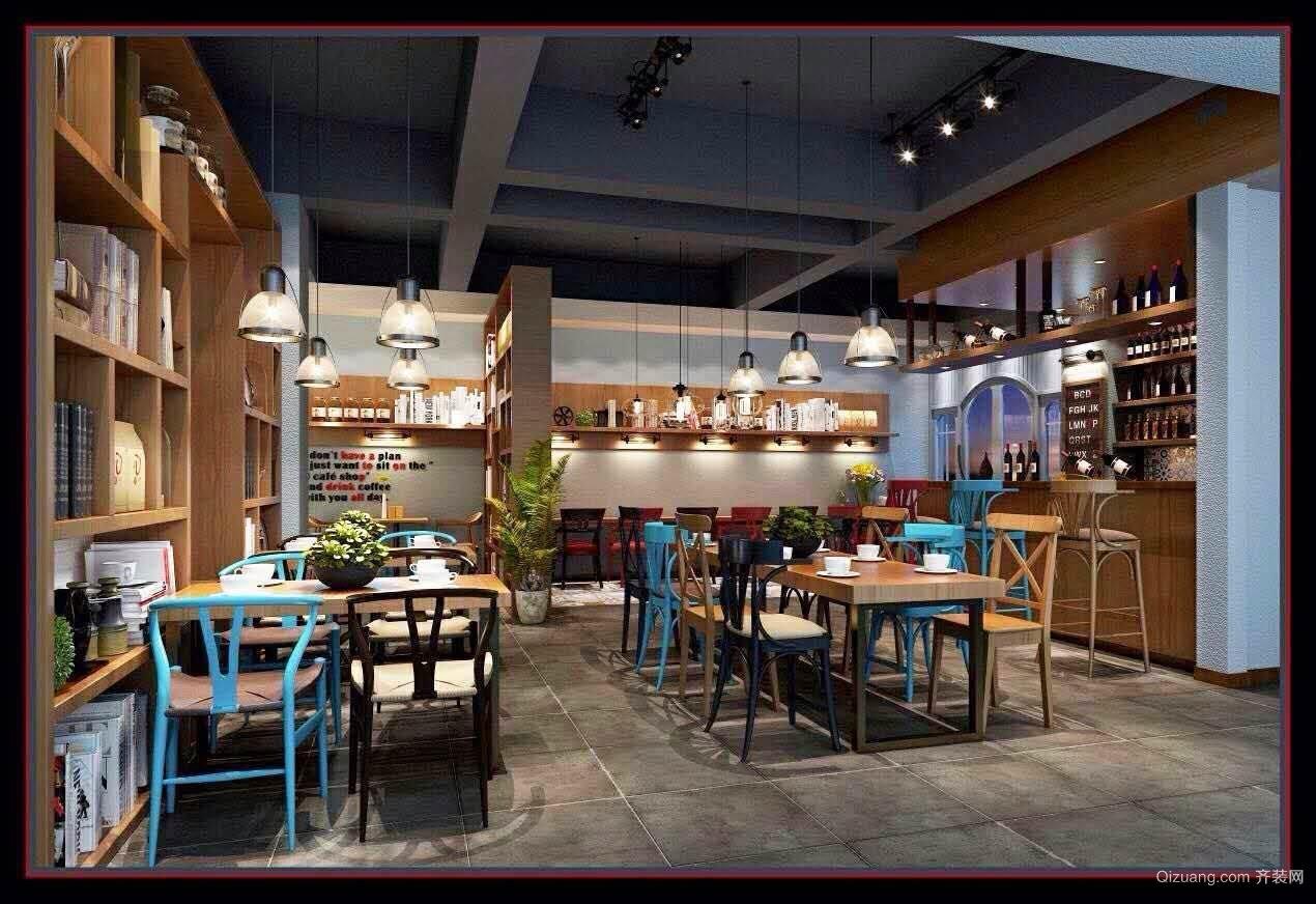 景鸿咖啡厅混搭风格装修效果图实景图