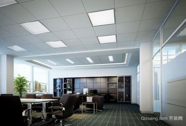 产业园办公室现代简约装修效果图实景图