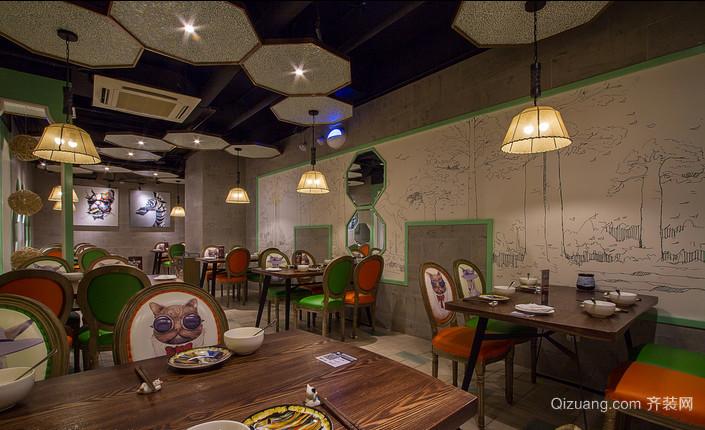 餐厅设计装修混搭风格装修效果图实景图