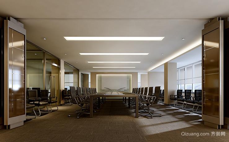 办公室中式风格装修效果图实景图