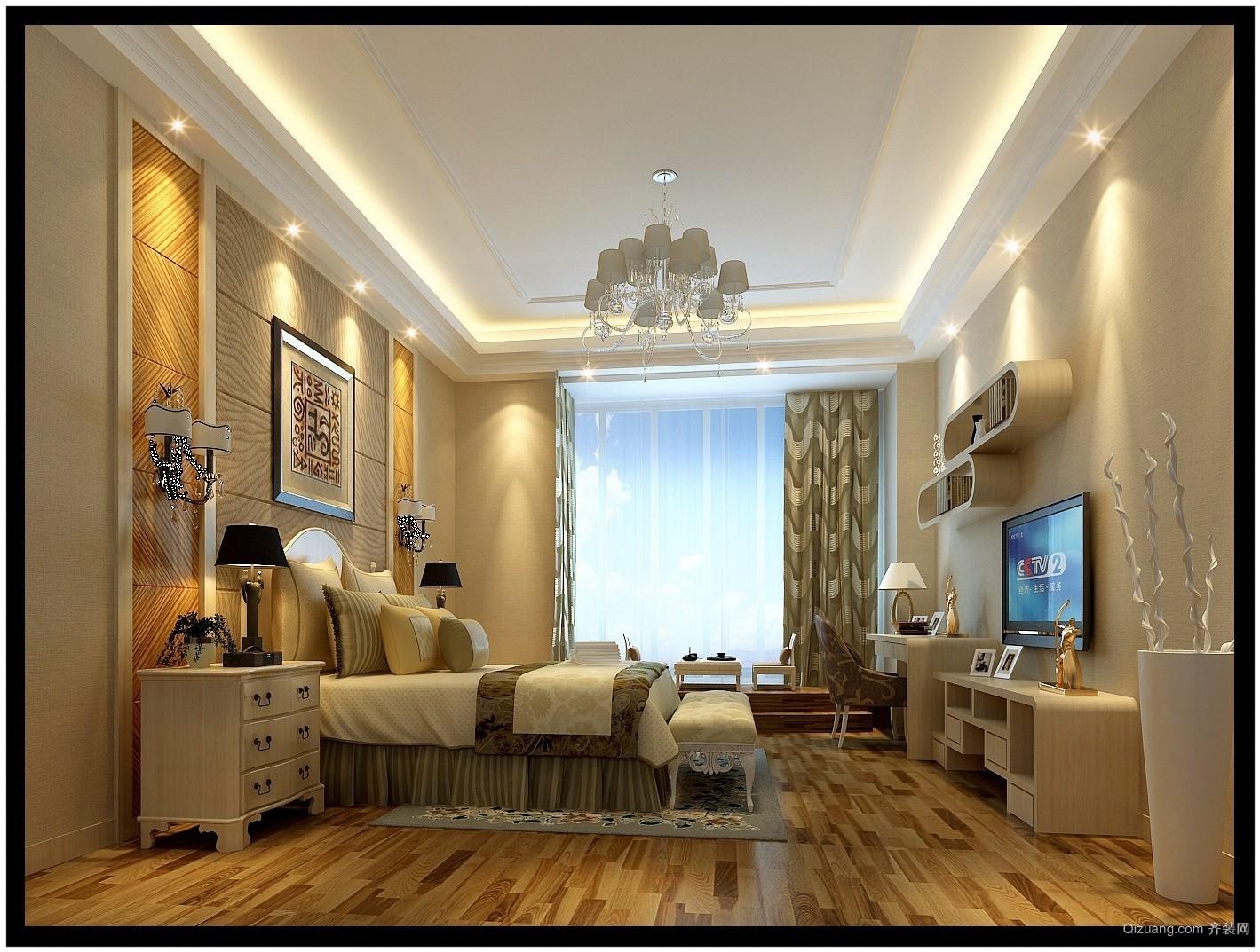 龙兴润城中式风格装修效果图实景图