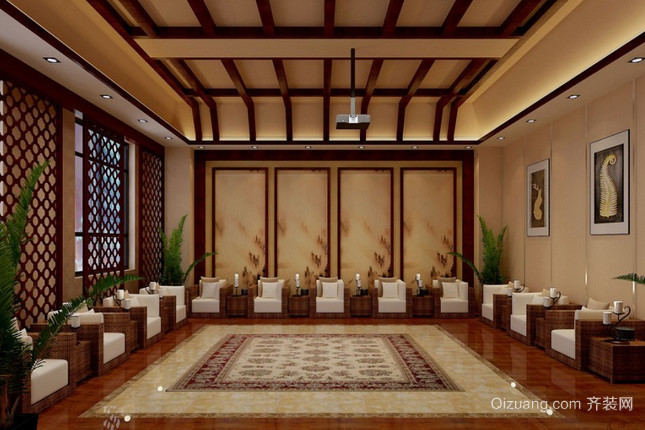 会议厅中式风格装修效果图实景图
