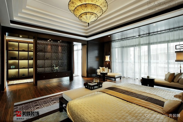 江南世家别墅中式风格装修效果图实景图