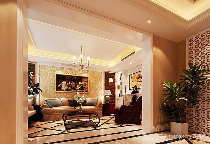 山水国际别墅欧式风格装修效果图实景图